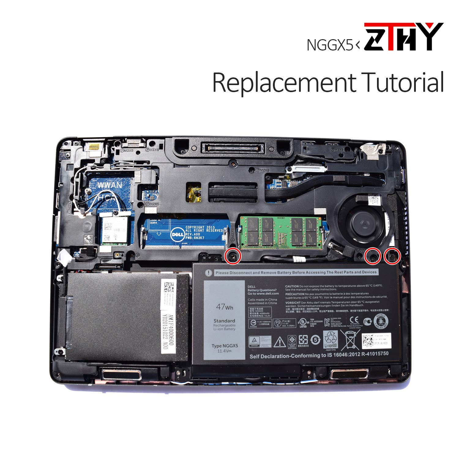 Accessories & Supplies ZTHY NGGX5 Laptop Battery Replacement for ...