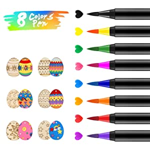 Food Coloring Markers Pens ValueTalks 8Pcs Food Grade Edible Markers Food Writer for Kids Cookies Decorating Cakes Fondant Painting Drawing Writing Fine Tip 8 Color