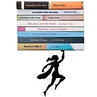 Artori Design Floating Bookshelf - Metal Wall Shelf Shaped as a Superwoman - Unique Invisible Book Stacker - Hidden Mount - Superhero Decor - Wondershelf - Concealed Book Shelf - Gifts for Women