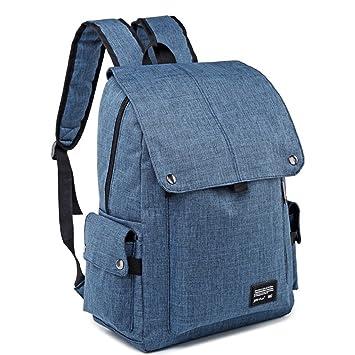 MG-N Bolsos Maletas Mochila grande portátil para hombres de negocios para compras y trabajo de viaje (Color : Blue): Amazon.es: Equipaje