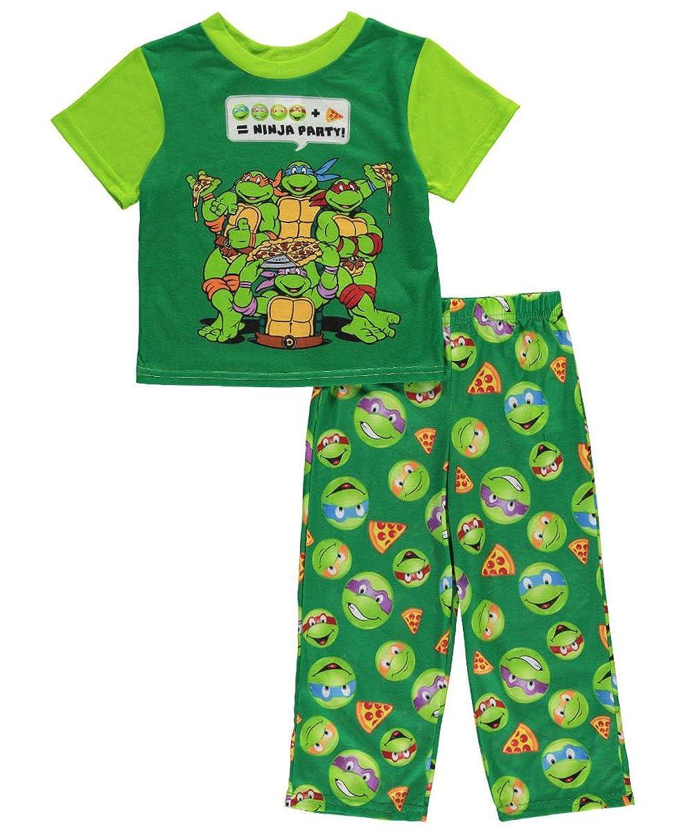 Teenage Mutant Ninja Turtles Little Boys Toddler 2 Piece Emoji Pajama Set