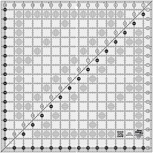 Square Grid Sewing Quilting Ruler Drawing Template DIY Tool for Patchwork Craft 16.5x16.5cm