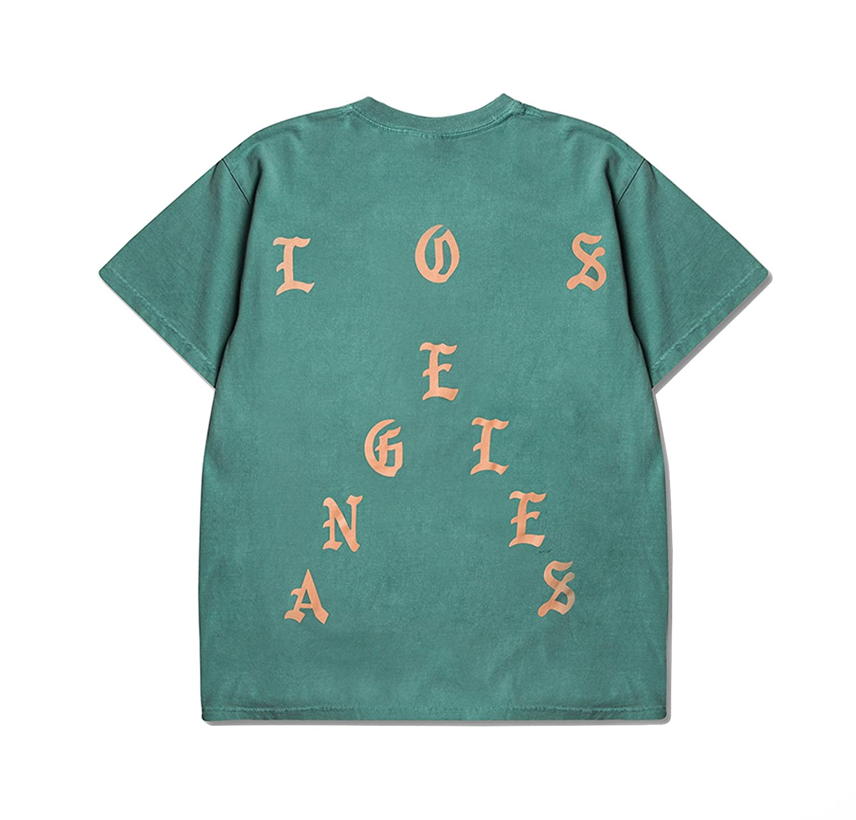 afecd7102b9 Amazon.com  Life of Pablo Seafoam I Feel Like Los Angeles Pop Up Short  Sleeve (Large)  Clothing