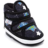 Hopscotch CHiU Unisex Baby Booties (Black, 15 Months)