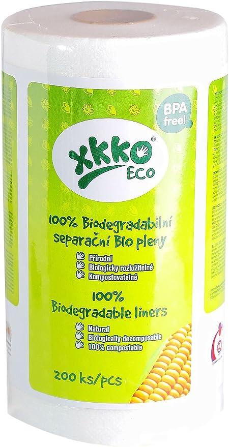 XKKO ECO - Pack de 200 pañales 100% biodegradables (30 x 19 cm ...