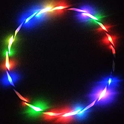 Peyan LED Sport Hoola Hoops for Kids Adults - 24 Color Strobing Changing LED Light - Weighted Glow Hula Rings Dance Toy for Sports Playing Exercise (Batteries Not Include): Toys & Games