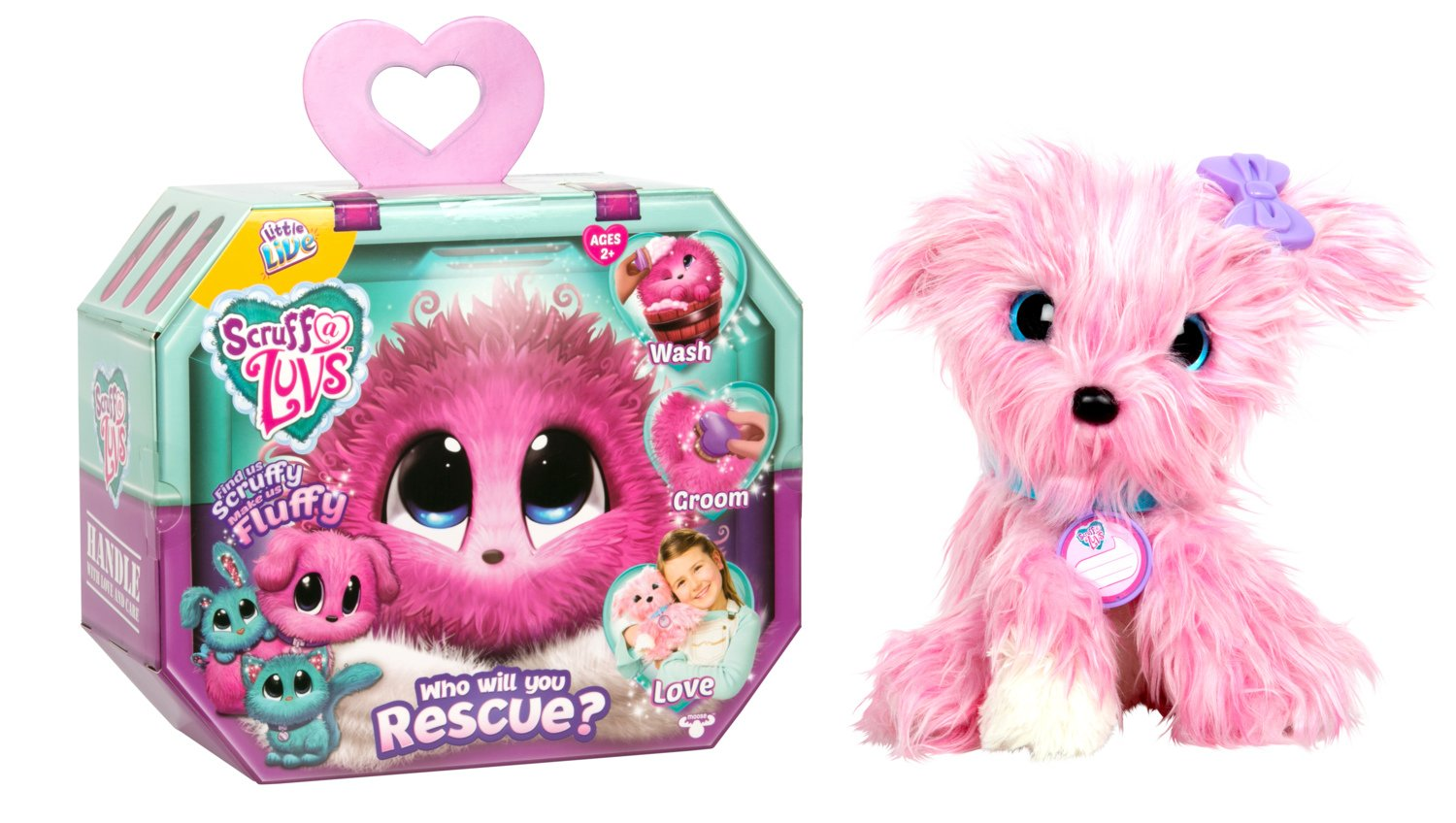 Little Live Scruff-A-Luvs Plush Mystery Rescue Pet - Pink by Little Live