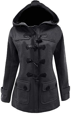 Amazon.com: Meaneor Women&39s Long Sleeve Double Breasted Pea Coat