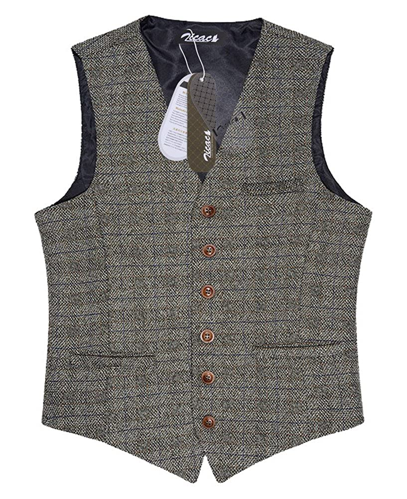 Retro Clothing for Men | Vintage Men's Fashion Zicac Mens Unique Advanced Custom Vest Skinny Wedding Dress Waistcoat  AT vintagedancer.com
