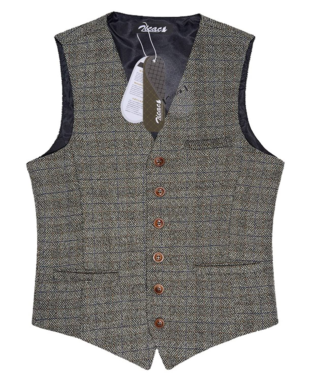 Men's Vintage Christmas Gift Ideas Zicac Mens Unique Advanced Custom Vest Skinny Wedding Dress Waistcoat $36.99 AT vintagedancer.com