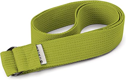 Amazon Com Gaiam Yoga Strap 10ft Premium Athletic Stretch Band With Adjustable Metal D Ring Buckle Loop Exercise Fitness Stretching For Yoga Pilates Physical Therapy Dance Gym Workouts Green Sports