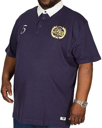 ecb56547479 D555 Big Mens Judd Short Sleeve Rugby Shirt with Twill Collar Navy-6XL:  Amazon.co.uk: Clothing