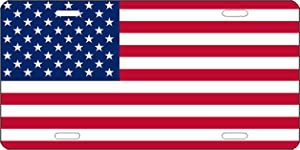 Rogue River Tactical USA Flag License Plate Novelty Auto Car Tag Vanity Gift American Patriotic US