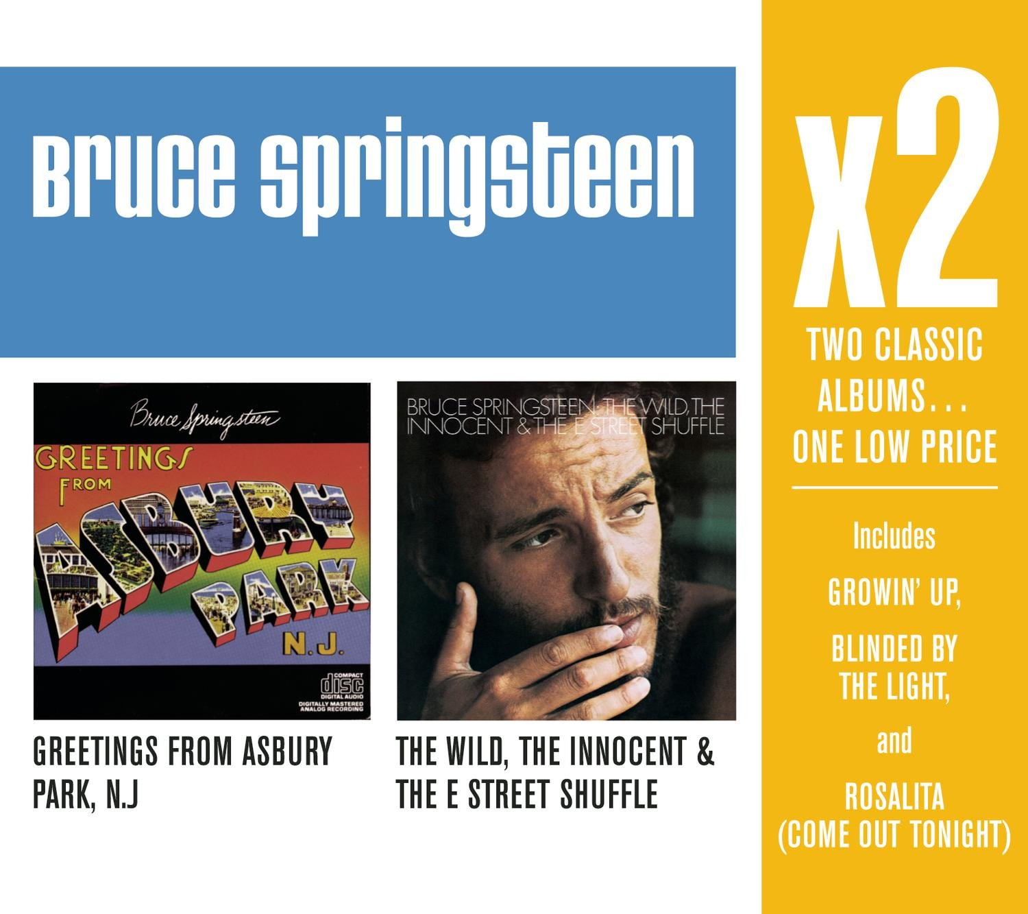 Bruce Springsteen X2 Greetings From Asbury Parkthe Wild
