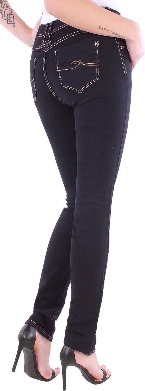 Black Denim Jeans Donna Skinny