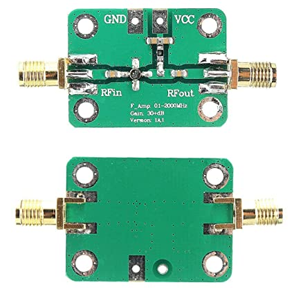 HiLetgo 0 1-2000MHz RF WideBand Amplifier 30dB High Gain Low Noise LNA  Amplifier