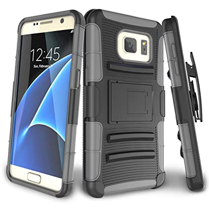 100% authentic 618af 2f67a Samsung Galaxy S7 Case,TILL [Knight Armor] Heavy Duty Full-body Rugged  Holster Resilient Armor Case [Belt Swivel Clip][Kickstand] Combo Cover  Shell ...