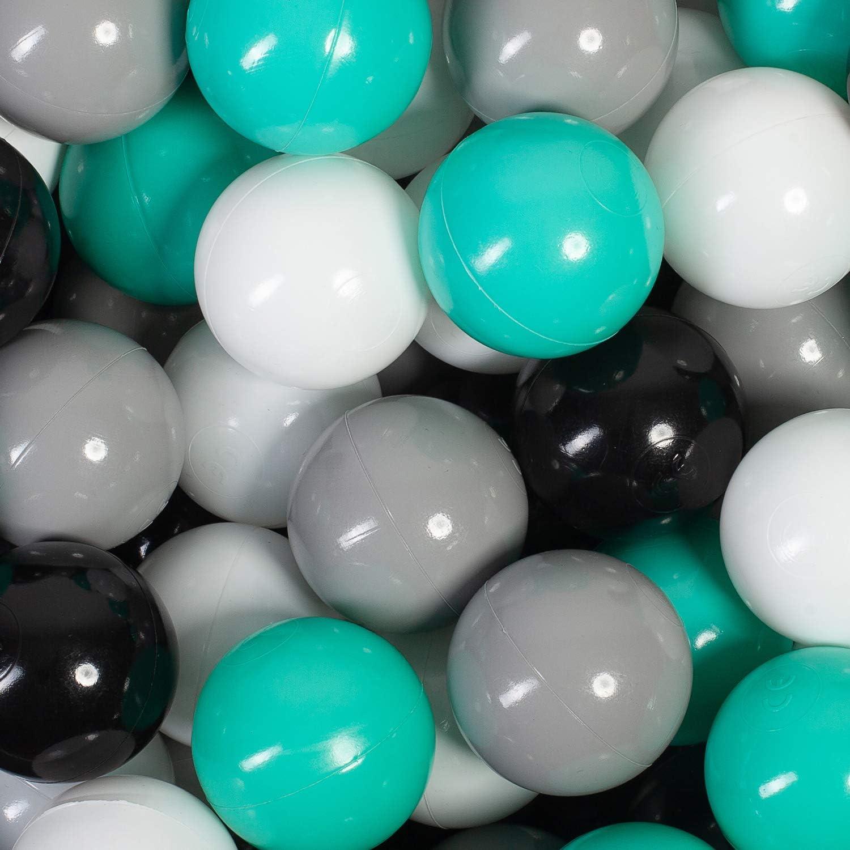 100 B/älle // 7 cm, Gelb//schwarz millybo B/älle f/ür Kinder B/ällebad 7 cm Plastikb/älle Kinderb/älle Spielb/älle viele Farben