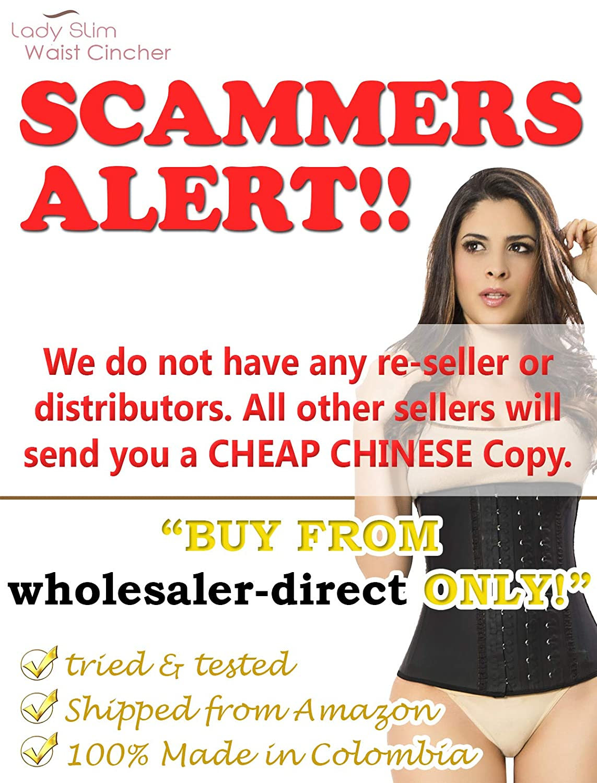 Lady Slim womens Fajas Colombiana Latex Waist Cincher//Trainer//Trimmer//Corset Weight Loss Shaper