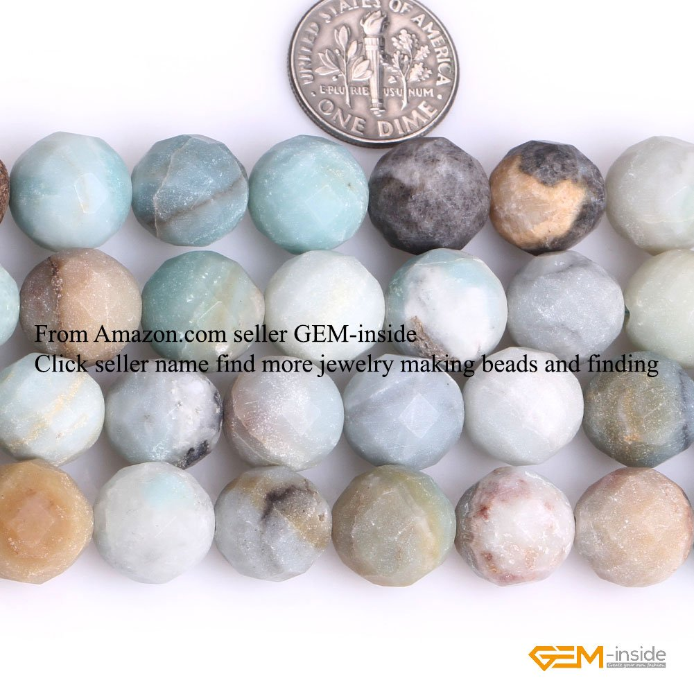 GEM-inside Mixed Color Frosted Matt ite Gemstone Losse Beads Natural 12mm Stone Big Large Hole Energy Stone Power Energy Stone Power Beads for Jewelry Making 15