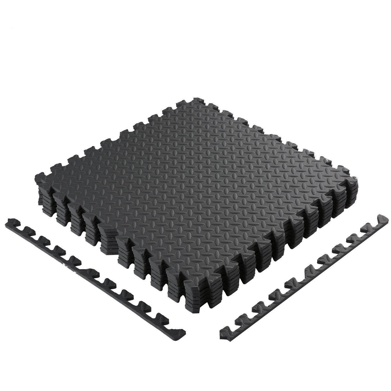 8er Schutzmatten Set 60 x 60 cm – Puzzlematten | Bodenschutzmatten | Unterlegmatten | Fitnessmatten für Bodenschutz – Sport, Fitnessraum, Keller – Matten Schutz vor Dellen, Kälte, Flüssigkeit Cartknights