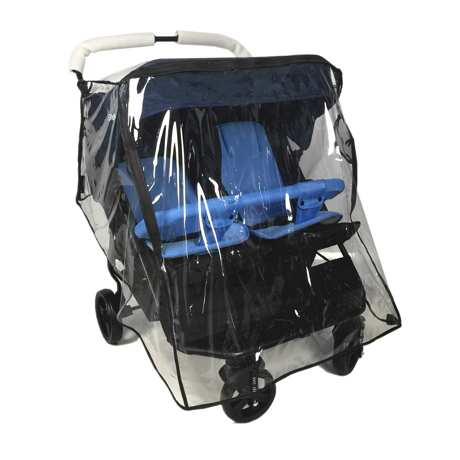 Weather Shield for Double Stroller Universal Side by Side Baby Stroller rain Cover