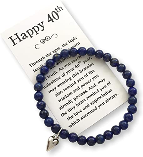 Amazon.com: Joyería de cumpleaños regalo mujer Turning 40 ...