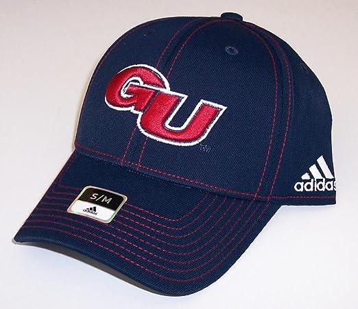 f477fab81f9 Amazon.com   Gonzaga Bulldogs Adidas Hat Small   Medium Flex Fit Cap NCAA  Authentic - Best Fits 7 Through 7 1 2   Sports Fan Beanies   Sports    Outdoors