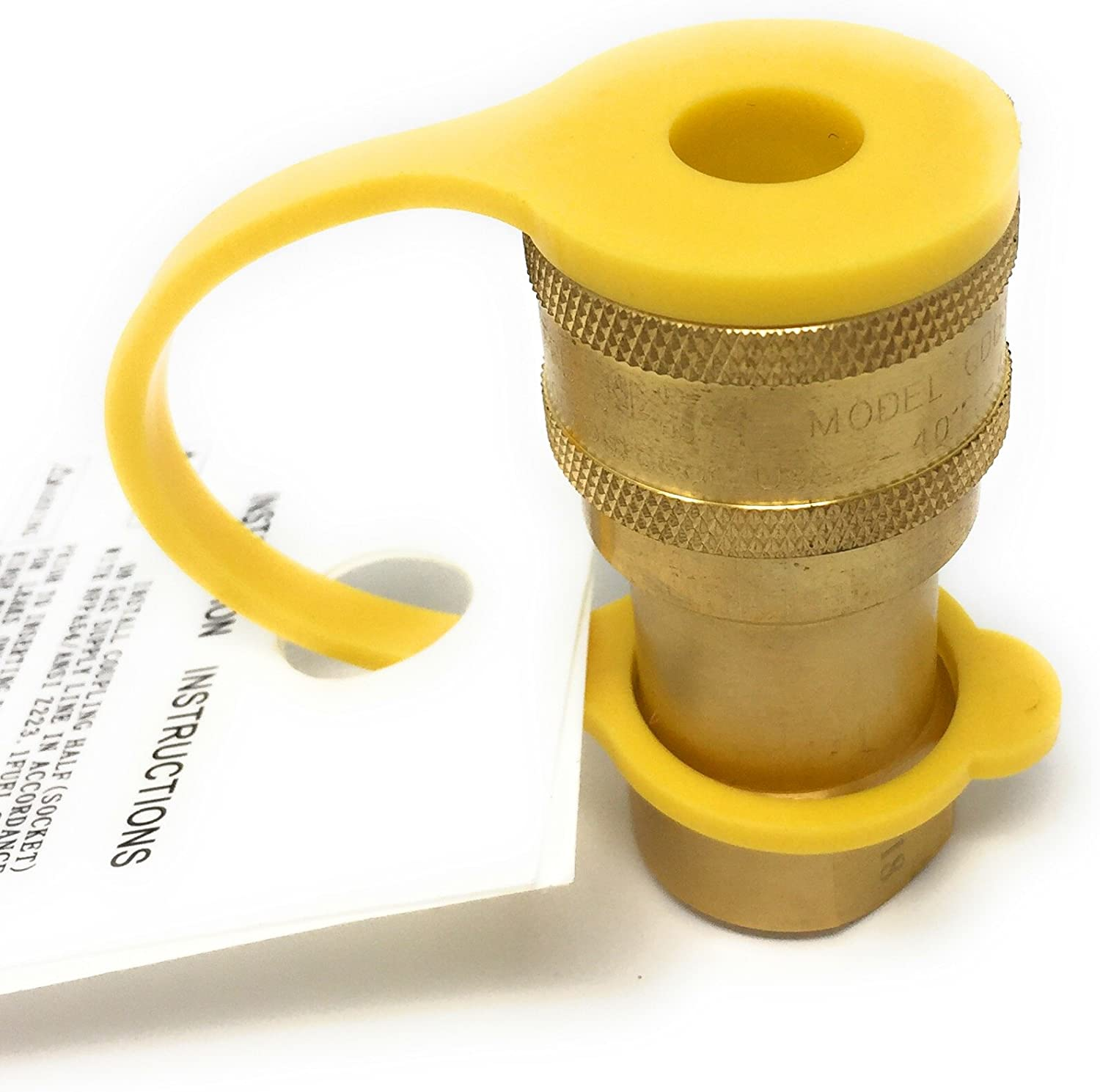 Brass Quick Connect Brass Fitting Natural Gas 3//8 Inch NPT Female Male Thread