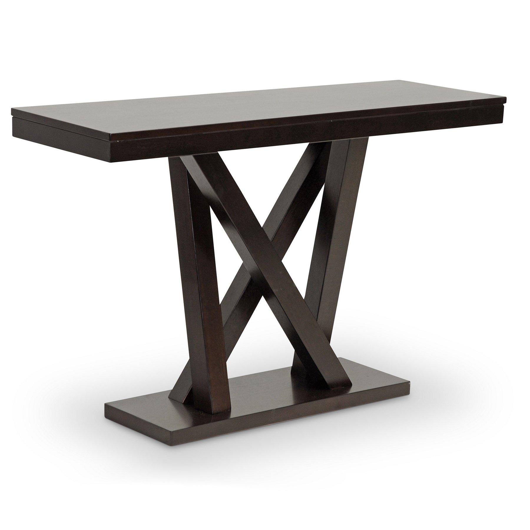 Baxton Studio Everdon Modern Sofa Table, Dark Brown