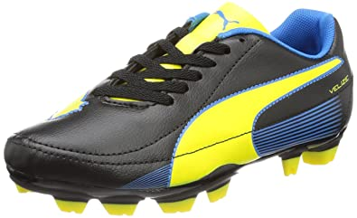 Puma Velize II FG Jr 102979, Unisex-Kinder Fußballschuhe, Schwarz (black-blazing yellow-brilliant blue 02), EU 39 (UK 6) (US 7)