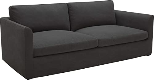 Amazon Brand Stone Beam Faraday Down-Filled Casual Sofa, 102 W, Charcoal