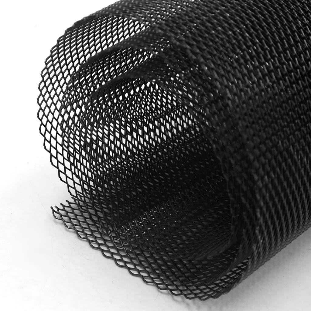 Schwarz B Blesiya Aluminium-Auto-Mesh-Grill-Kit Sto/ßf/änger-K/ühlergrill Universal Fit f/ür Jede Art von Auto