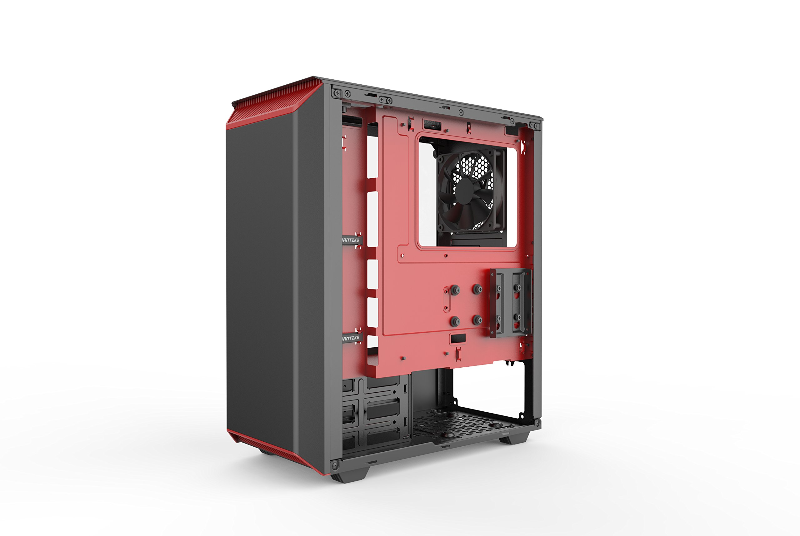Phanteks PH-EC300PTG_BR Eclipse P300 Tempered Glass Steel ATX Mid Tower Case Black/Red by Phanteks (Image #8)