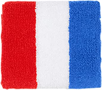 American Apparel Unisex Loop Terry Wrist Band, Red/White/Blue, One Size