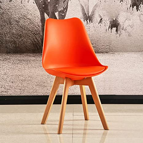 Surprising Amazon Com Tulip Chair Plastic Wood Retro Dining Chairs Pabps2019 Chair Design Images Pabps2019Com