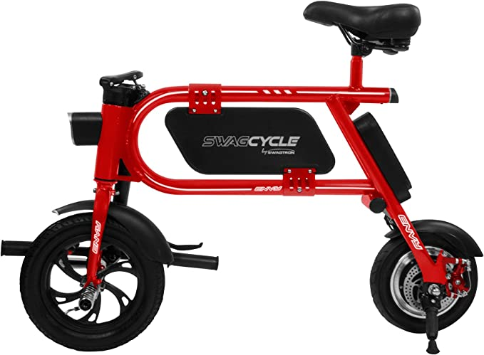 Swagtron 200 W SWAGCYCLE Envy Bicicleta eléctrica Plegable con ...