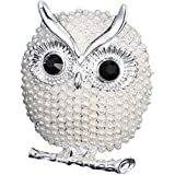 Bluelans® Lovely Pearl Sitting Owl Brooch Pin Wedding Bridal Jewelry Xmas Gift