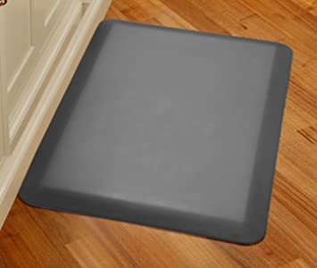 WellnessMats Original Anti Fatigue 36 Inch By 24 Inch Kitchen Mat, Grey