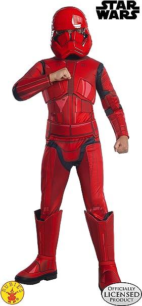 Boys Stormtrooper Red Costume Kids Disney Star Wars Fancy Dress Outfit Licensed