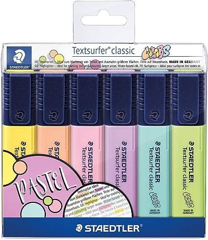 Staedtler 364 CWP6. Rotuladores fluorescentes Textsurfer. Estuche con 6 marcadores de color variados.: Amazon.es: Oficina y papelería