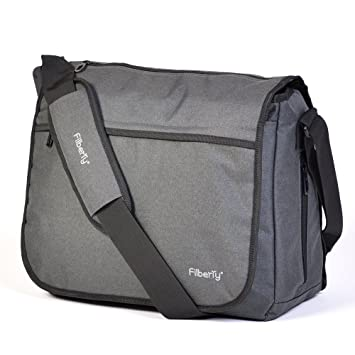 20d49ff9f7c9 Filberry Messenger Diaper Bag for DADS & Moms to Share Baby Care! - Top  Zipper for Easy Access - Large...
