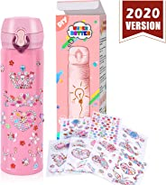 YOFUN Create Your Water Bottle with Tons of Rhinestone Gem Stickers - Craft Kit & DIY Art Set for Children, Gift for Girls -