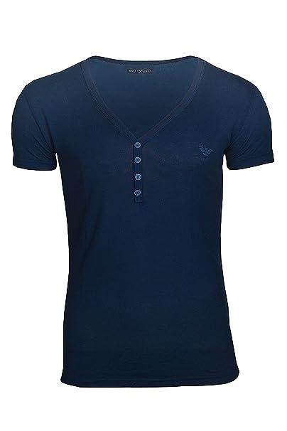 Emporio Armani - Camiseta de pijama - para hombre Rock Grey (01752) Medium
