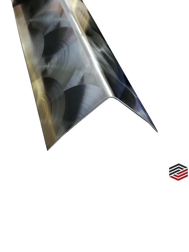 50x50x0,8 mm, Spiegel Effekt Eckschutzschiene Edelstahl 3-fach gekantet Kantenschutz Eckschiene 2 Meter lang