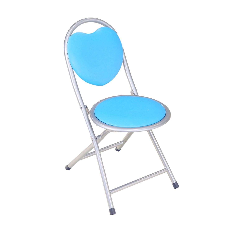 Frenchi Home Furnishing Kids Folding Chair, Blue Frenchi Furniture BU4006-1