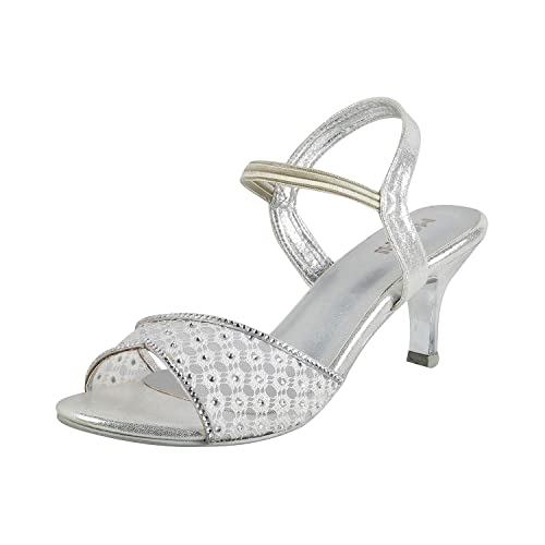 9a3a331ac661 Mochi Women s Silver Fashion Sandals-6 UK India (39 EU) (35-2942-27 ...