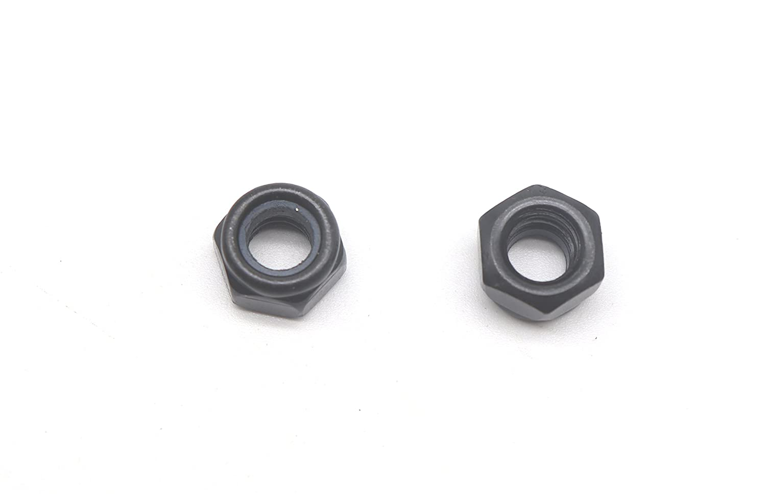 binifiMux 30Pcs M6-1.0mm Black Zinc Plated Nylon Lock Nuts Inserted Hex Self Clinching Nuts
