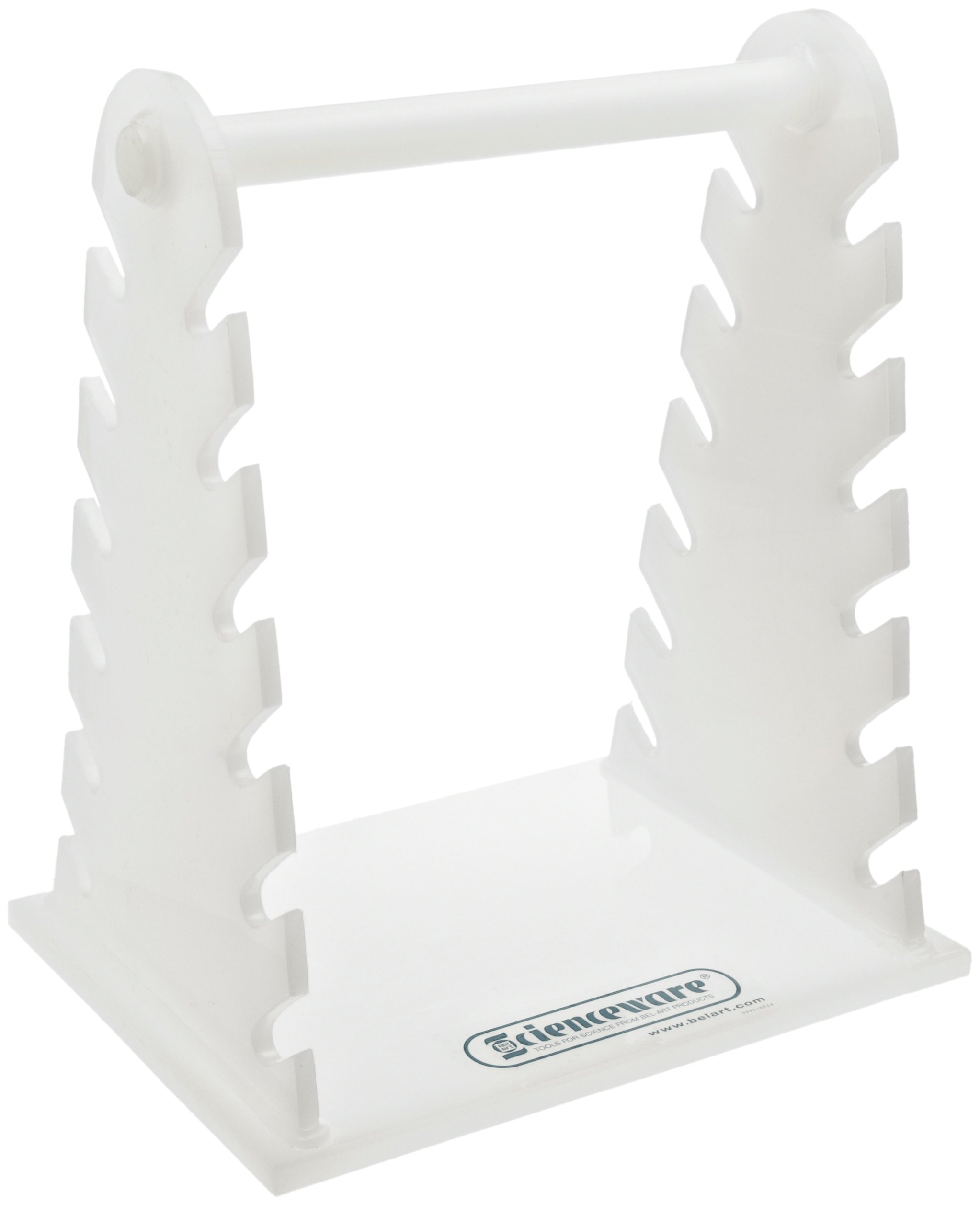 Bel-Art Pipette Support Rack; 22cm and Longer, 12 Places, 9½ x 7 x 11½ in., Polyethylene (H18960-0000)