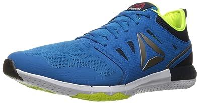 Reebok Men s Zprint 3d Running Shoe Instinct Blue/collegiate Navy/solar  Yellow/